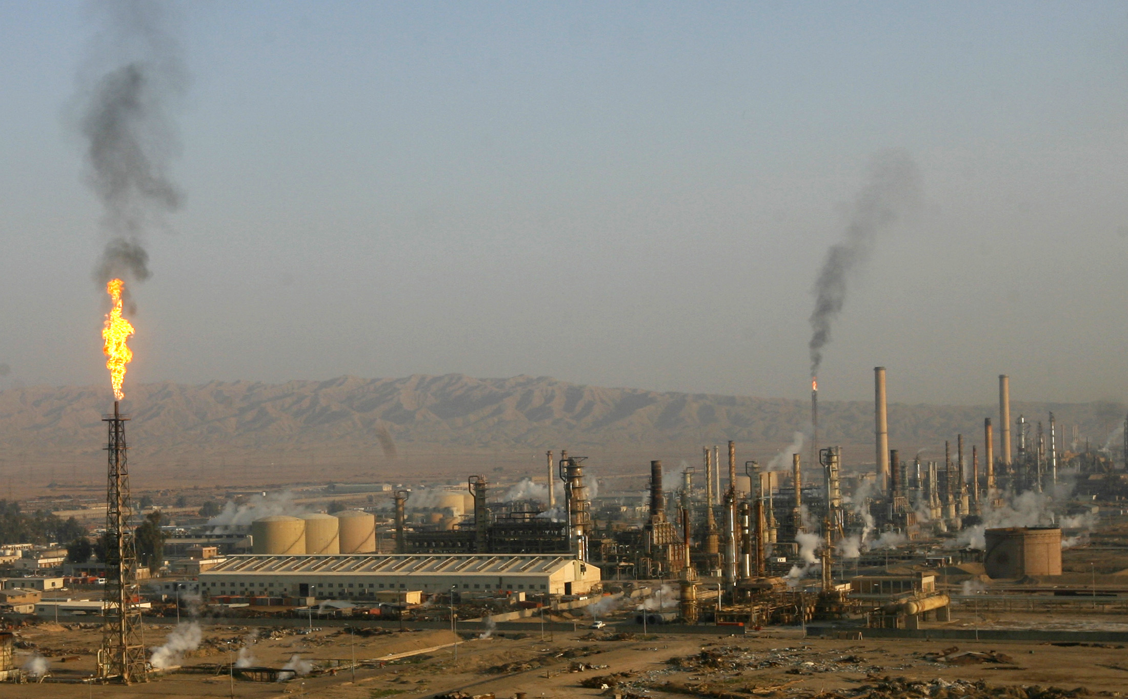A general view of Baiji oil refinery in Baiji